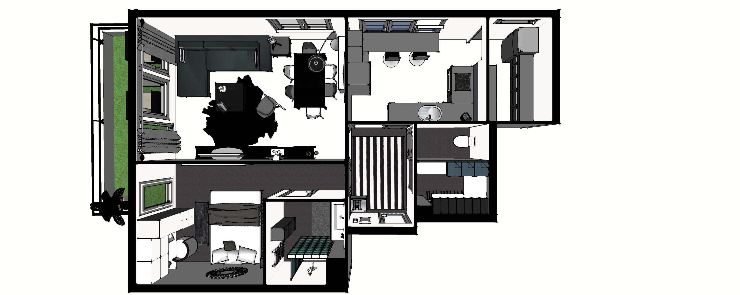 d co appartement t2 d co sphair. Black Bedroom Furniture Sets. Home Design Ideas