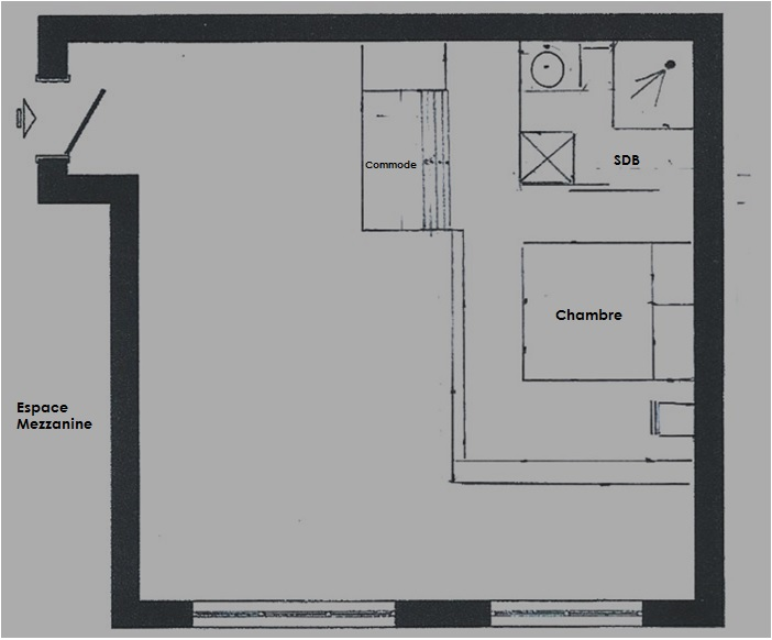 plan de studio avec mezzanine rdc studio avec mezzanine plan dessin par amandine59 emejing. Black Bedroom Furniture Sets. Home Design Ideas